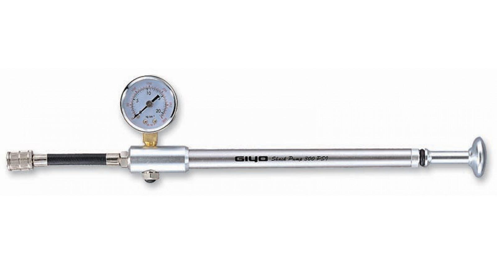 Насосвысокого давления GIYOGS-01сманометром,алюминиевый,серебристый