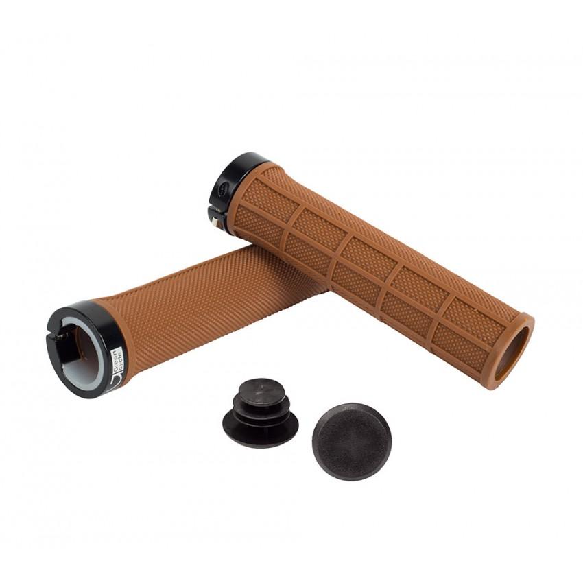 Грипсы Green Cycle GC-G210 130mm коричневые с одним черным замком
