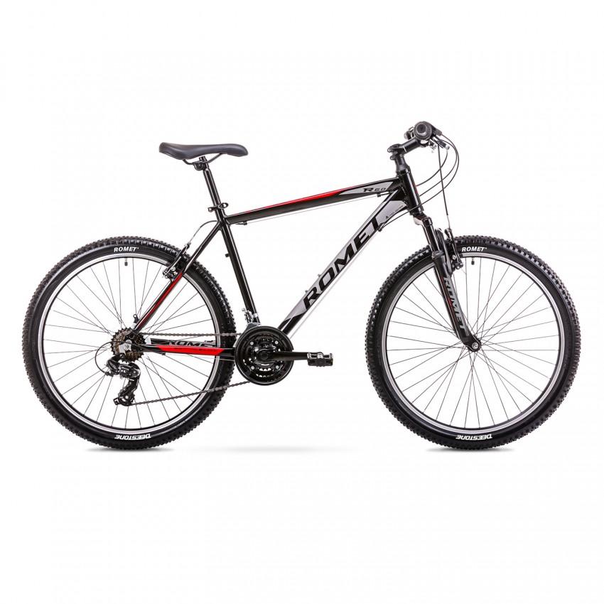 """Велосипед ROMET Rambler R6.0 26"""" черно-красный 2021 рама S 14"""""""