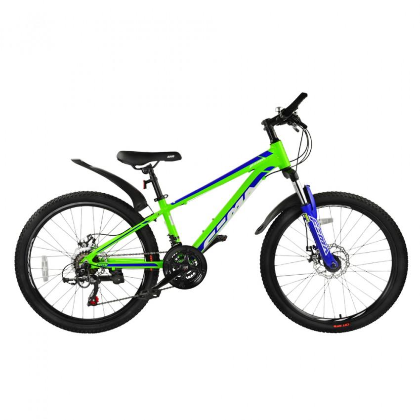 "Велосипед RoyalBaby FEMA MTB 1.0 24"", OFFICIAL UA, лайм"