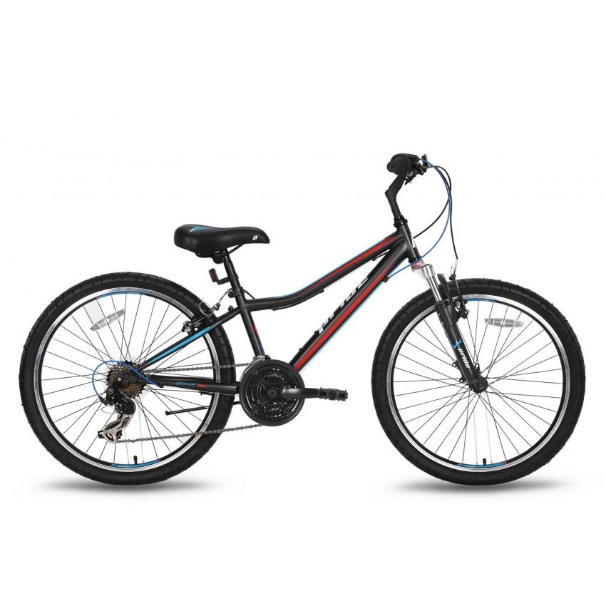 Велосипед PRIDE BRAVE 21 24'' черно-синий