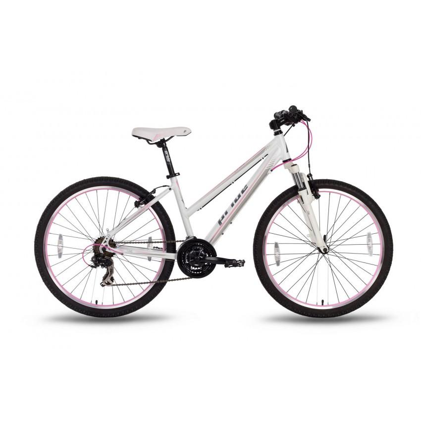 """Велосипед 26'' Pride STELLA рама - 16"""" бело-розовый матовый (SKD-59-40)"""