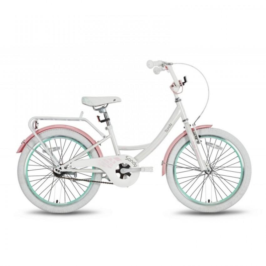 """Велосипед 20"""" Pride SANDY бело-розовый глянцевый (SKD-26-02)"""
