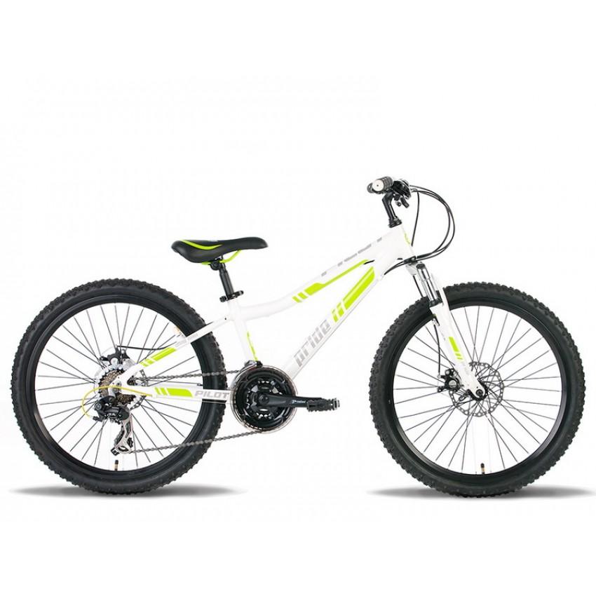 """Велосипед PRIDE PILOT 24"""" бело-зеленый"""