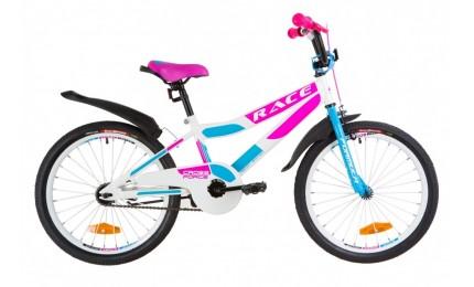 """Велосипед Formula Race 20"""" Белый/розовый/голубой"""