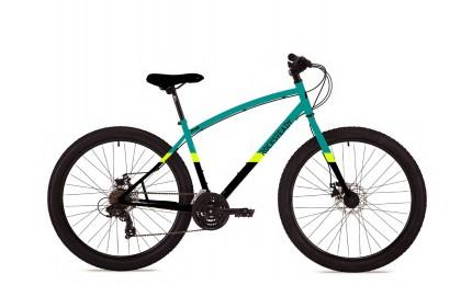 "Велосипед 27,5"" Pride Rocksteady 7.2 рама - M бирюзовый / чёрный / жёлтый 2018"