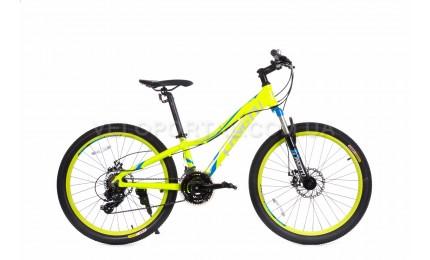 """Велосипед 24"""" Langtu KLT700S Зеленый/ Синий"""