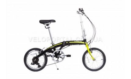 """Велосипед 16"""" Langtu KW017(14) Черный/ Зеленый"""