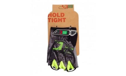 Велоперчатки без пальцев Green Cycle NC-2517-2015 Road XL серо-зеленый