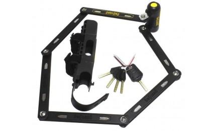 Велозамок ONGUARD REVOLVER Link Plate X4P 1120 мм сегментный 4 ключа + 1 с подсветкой