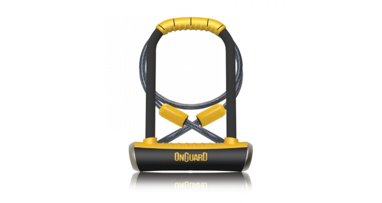 Велозамок ONGUARD PITBULL DT 14x115x230 мм + трос 10x1200 мм - № Фото 1 - № Фото 2 - № Фото 3