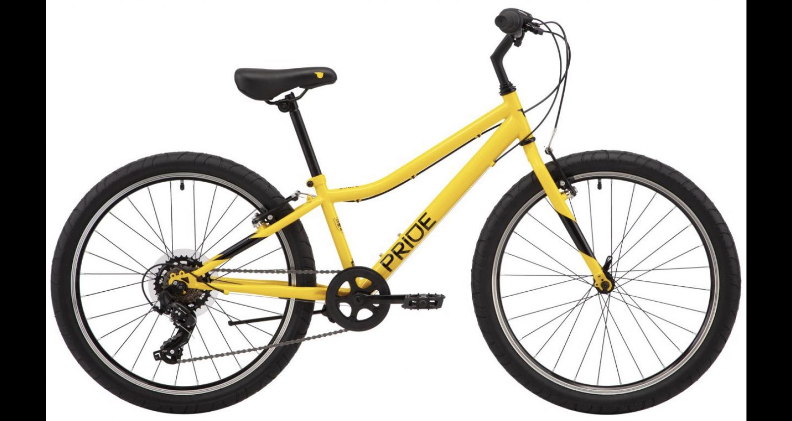 "Велосипед Pride Brave 4.1 24"" Желтый"