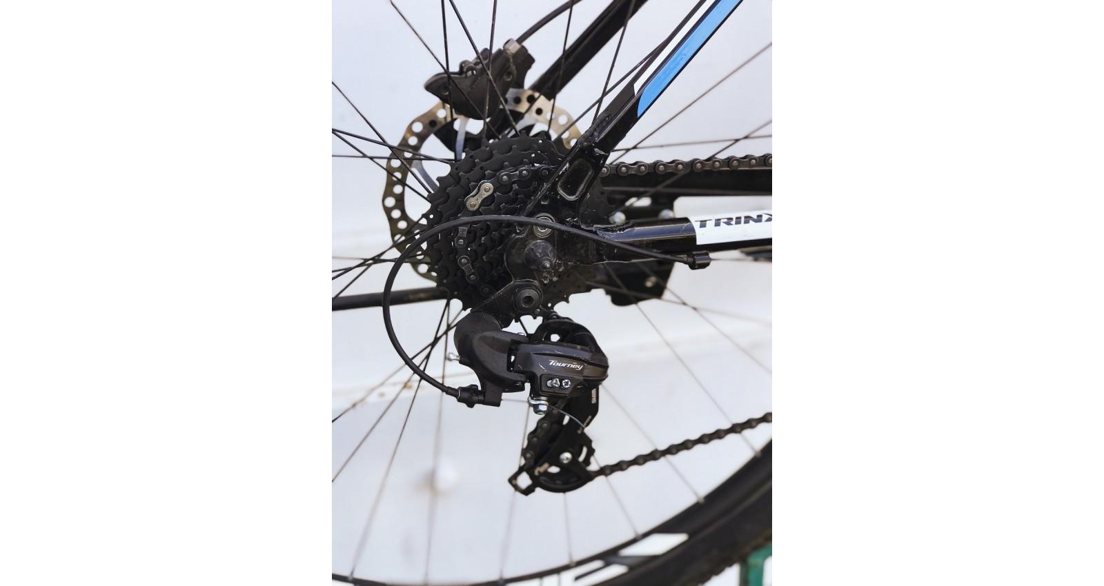 """Велосипед М600 Expert Pro Trinx 29"""" рама 17, 2020 черный/серый/голубой б/у - № Фото 1 - № Фото 2 - № Фото 3"""