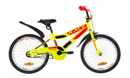 """Велосипед Formula Race 20"""" Желтый/красный/черный"""