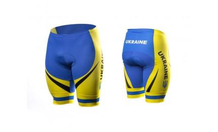 Велотрусы OnRide Ukraine без лямок желто-голубой L