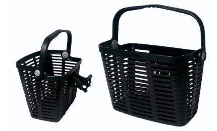 Корзина Longus нарульлегкосьемная пластиковая черная