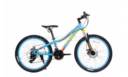 """Велосипед 24"""" Langtu KLT700S Матовый Синий/ Оранжевый"""