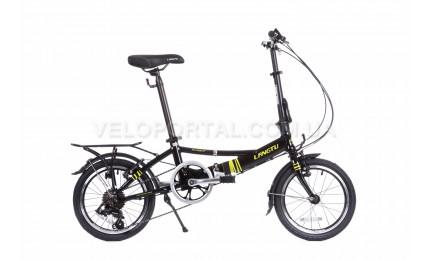 """Велосипед 16"""" Langtu KH017 Черный/ Зеленый"""