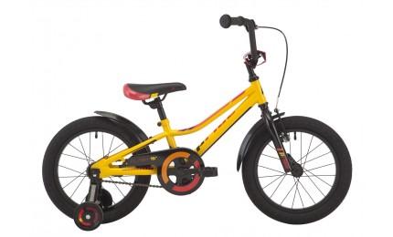 """Велосипед 16"""" Pride Flash жёлтый / красный / чёрный 2018"""