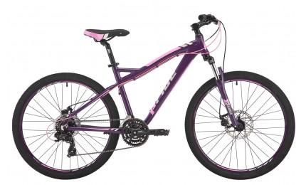 "Велосипед 26"" Pride Stella 3.0 рама - 16"" тёмно-фиолетовый/розовый/серый 2017"
