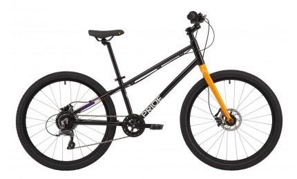 "Велосипед 24"" Pride GLIDER 4.2 Blackчорний/оранж 2020"