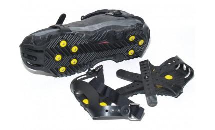 Ледоступы ArtiMate JH-211 с креплением на ремешке (38-46 размер обуви) черный